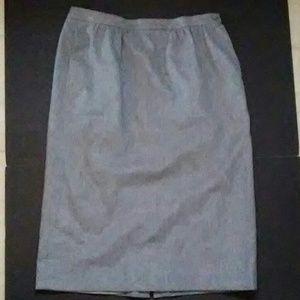 Pendleton Classic Wool Pencil Gray Skirt size 14